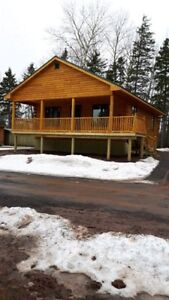 New Build Log Chalet On The Water In Tatamagouche, NS