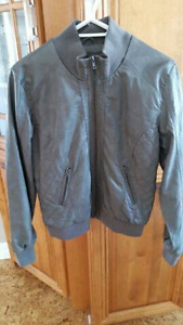 Grey faux leather jacket in size XL. Never worn. Smokefree home.