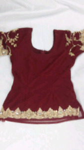 Burgundy Lengha for sale