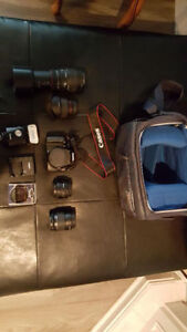 Canon T3 DSLR Camera with lots of lenses and accessories!
