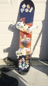 Snowboard with accessories