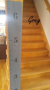 Blowtorched Growth Chart Rulers – Shower gift