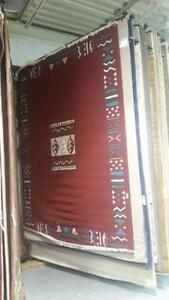 New large area rug Aztec design size 8x10 feet