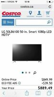 TÉLÉVISION 50''LG LED 1080P 120HZ SMART TV 475$ TXES INCLUSES