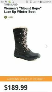 New Timberland women's Mount Hope boots size 11, $80 obo
