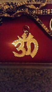 22k Solid Gold OM Pendant charm - $180 Edmonton Edmonton Area image 1