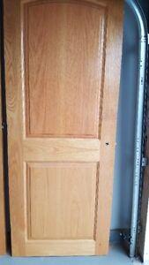Honey stained oak doors