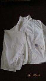Gents waterproof bowling jacket and trousers