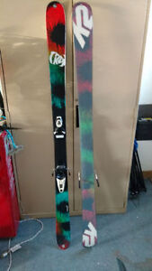 K2 ALPINE SKIS TWIN TIPS EXPRESS 159 CM ONLY USED ONCE