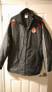 MLS- Adidas Toronto FC Soccer Coat - Size Men Large-New