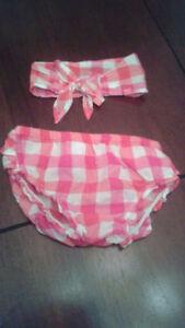 culotte et bandeau souris-mini 12 mois