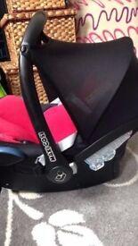 Maxi-Cosi CABRIOFix baby car seat Gp0+ in RED - USED