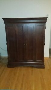 Solid Cherry Wood TV Armoire