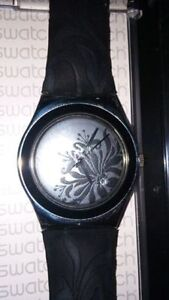 Black Leather Swatch Watch womens London Ontario image 1