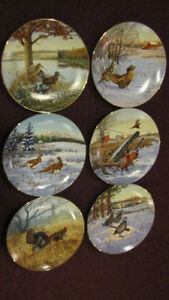 Complete set of 6 plates - Field Birds of North America