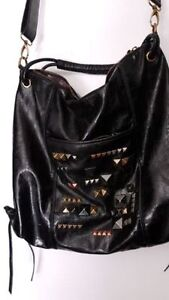 Black studded Rachel Roy crossbody bag/purse