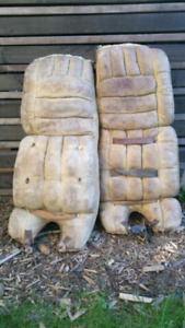 Antique goalie pads