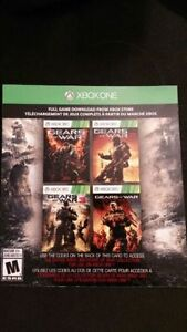 Gears of War 1, 2, 3 and Judgement Codes. Xbox One / 360 Windsor Region Ontario image 1