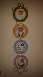 DECORATIVE PLATES WITH CUSTOM GOLD PLATERACK MOTHER DAY GIFT