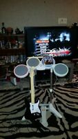 Rock Band for Wii with 3 instruments and game