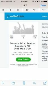 ROW 3 BEHIND TFC BENCH!! Section122 - MLS Cup Final