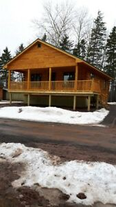 New Build Log Chalet On The Water In Tatamagouche, NS For Sale