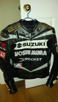 Joe Rocket SUZUKI GSX-R Leather Jacket, Mat Mladin Replica