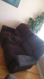 Love Seat, Recliner, Kitchen Table & Benchs and Electric Stove