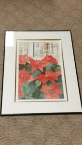 WATERCOLOR ART PAINTING ORIGINAL. FRAMED. SIGNED FRIESEN. 27 INC