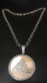 Very heavy soled silver Belcher chain with pendant