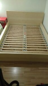Like New Ikea Malm Birch Queen Bed Frame/ Free Delivery