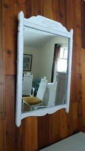 Shabby Chic Charming Old Solid Heavy Antique Mirror