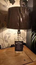 Jack Daniels Hand made up cycled table bottle lamps from £15