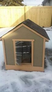 Like new, just built, Insulated wood large dog house. $300