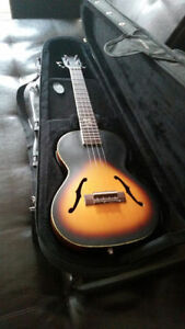Kala Archtop Tenor Ukulele w/ pickup and case