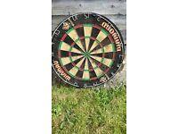 dart board,WINMAU DIAMOND-hardly used, in good condition,