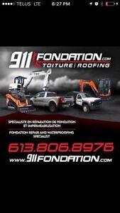 Foundation Crack, Basement Leak Repair Services, Estimation 24 H