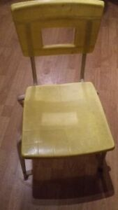 yellow chairs for daycare, preschool, afterschool school program