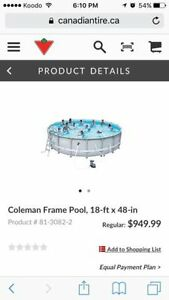 18x4ft above ground pool