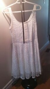 White Guess Dress with Belt
