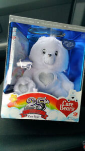 Play Along Care Bears 25th Anniversary Bear with DVD- NEW
