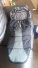 phil&teds Snuggle & Snooze Pushchair Sleeping Bag, Black/Charcoal