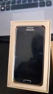 Samsung S4 phone with packaging and an Otterbox