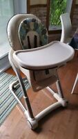 Graco High Chair adjustable hight. + booster seat