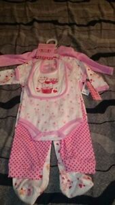 New baby girl items with tags