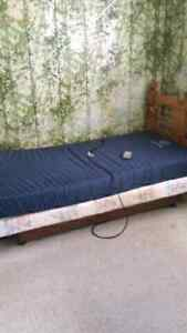New price Adjustable bed with remote and solid wood headboard