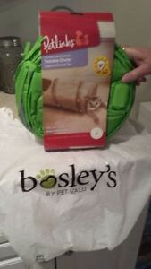 Brand new line green crunchie Cat Tunnel purchased at Bosley's