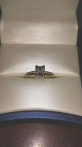 Tiffany solitaire diamond engagement ring