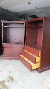Solid Cherrywood entertainment center