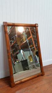 Miroir/Mirror HEIRLOOM Vintage Antique Retro Bois/Wood